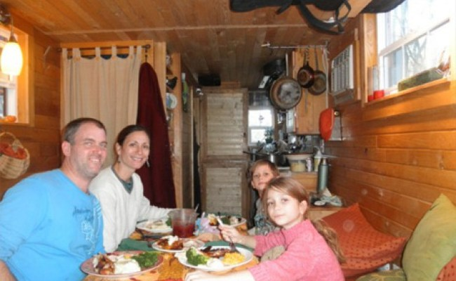 The Diy Tiny House Built And Occupied By A Family Of 4