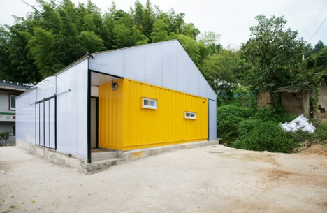 Low Cost House Hybrid Home Of Cheap Cargo Containers