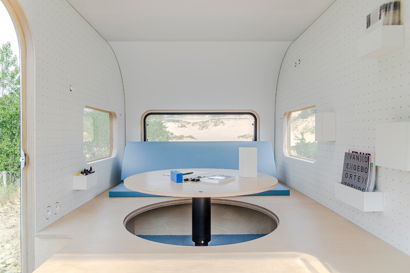 Pop Up Office Tiny Trailer Transforms For Work And Rest