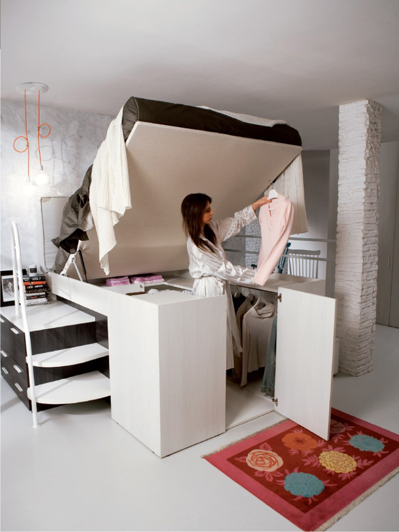 Hide a Closet Platform Bed Tops Spacious Storage Compartment  Designs  Ideas on Dornob