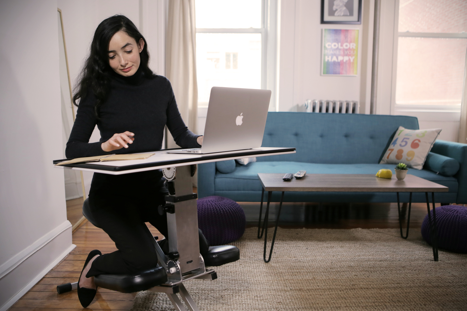 PopUp Desk Provides Seating  Work Surface Anywhere You