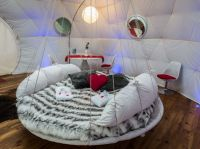 Dream Bed: Hammocks Meet Round Mattresses in This Hanging ...
