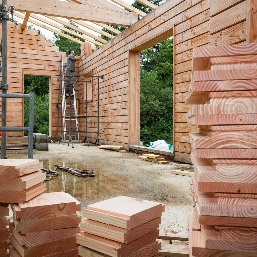 Life Sized Lincoln Logs Wooden Bricks Make Building A