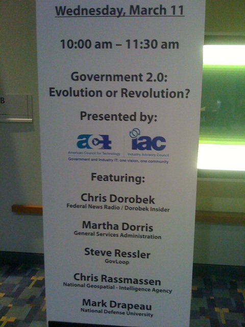 The ACT-IAC government 2.0 panel today at FOSE