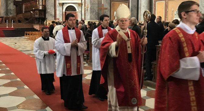 Virágvasárnap: Erdő Péter misézett a Bazilikában