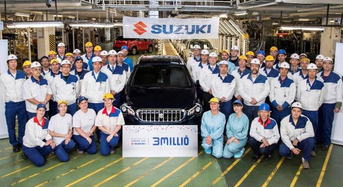 Legördült a hárommilliomodik Suzuki