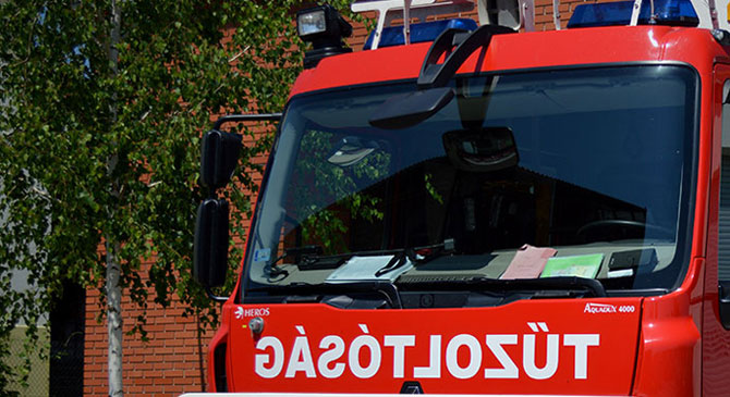 A Gáthy Zoltán utcába siettek a tűzoltók