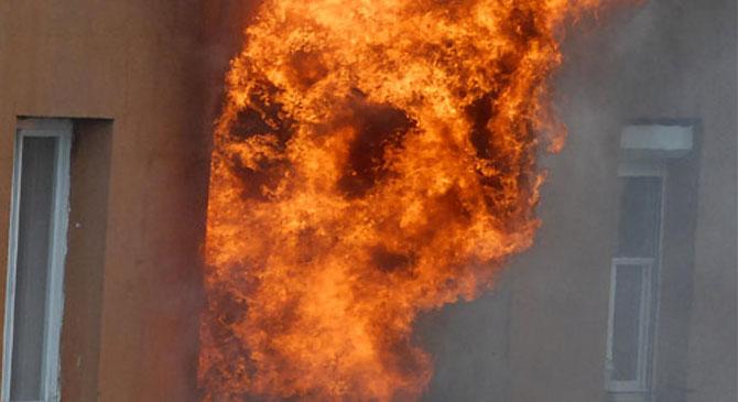 Tűz a Zsigmondy-lakótelepen