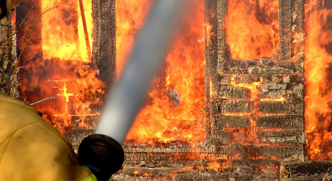 Mezőgazdasági épület égett Süttőn