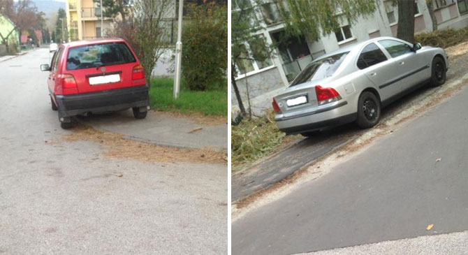 Egyre többen parkolnak szabálytalanul Dorogon