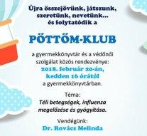 Pöttöm-klub a dorogi gyermekkönyvtárban