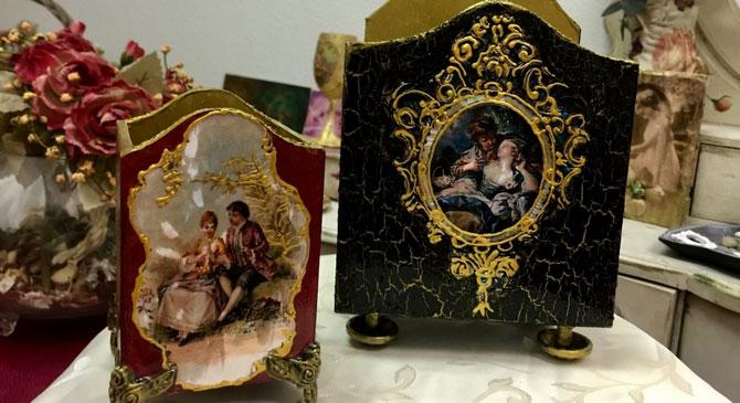 Veress Gabriella dekupázs kiállítása