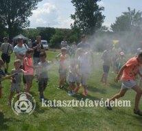 A tűzoltók is részt vettek a sárisápi juniálison