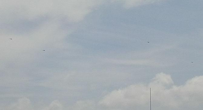 Katonai helikopterek térségünk légterében