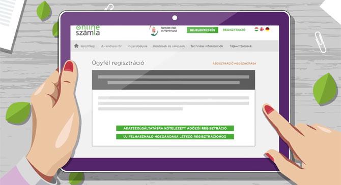 Elindult a regisztráció az Online Számla rendszerben