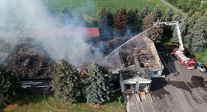 Leégett egy bábolnai tésztagyár
