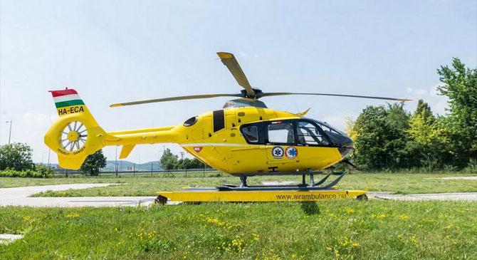 Mentőhelikopter sietett egy dorogi gyermekhez