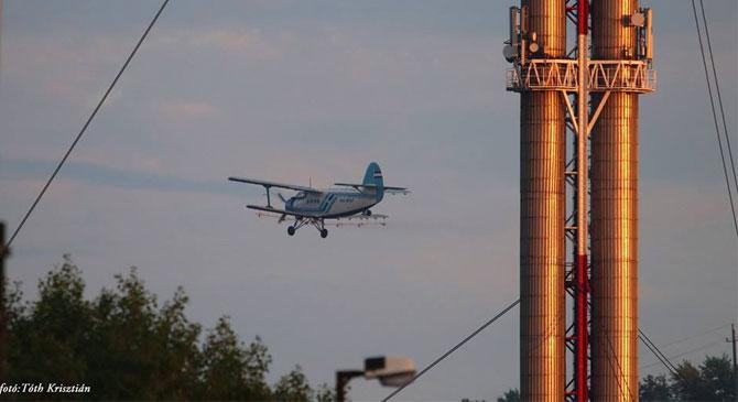 A hőség enyhülése után végzik az elmaradt légi szúnyoggyérítést
