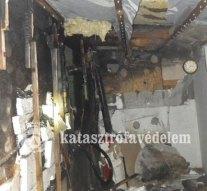 Melléképület lángolt Esztergomban