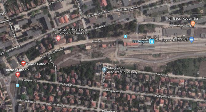 Megnyílt a forgalom előtt az esztergomi Baross Gábor utca vasútállomás környéki szakasza