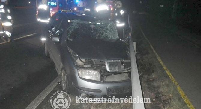 Képek a Táti úti balesetről