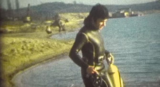 Videó 77-ből: dorogi búvár a Palatinus-tónál