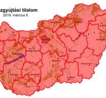Komárom-Esztergom megyére is kiadták a tűzgyújtási tilalmat