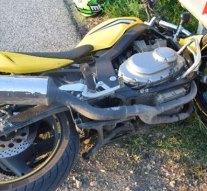 Szalagkorlátnak ütközött motorjával