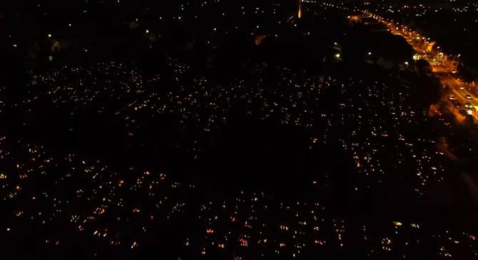 Csodálatos légi felvételeken a dorogi temető