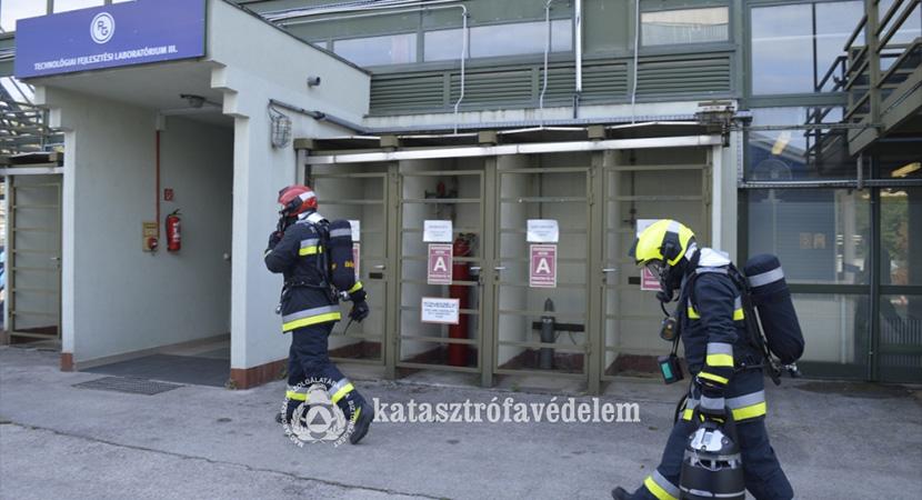 A dorogi Richterben gyakorlatoztak a tűzoltók