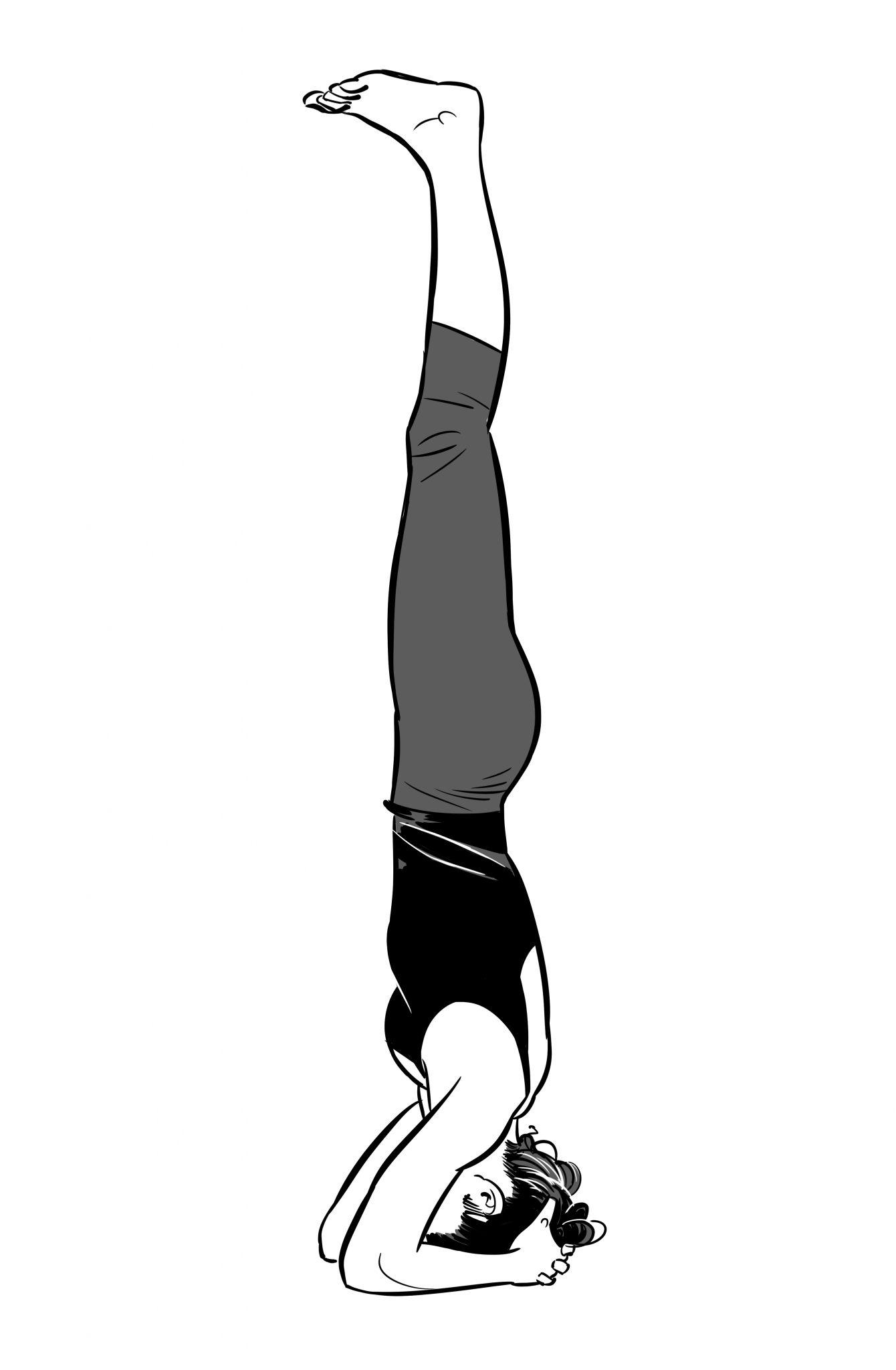 How to do yoga headstand video, sirsasana Ashtanga Vinyasa.