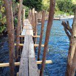 Wooden walk at Lake Atitlan, Guatemala