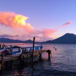 Colorful sunset at Lake Atitlan near Doron Yoga & Zen Center yoga retreat in Guatemala