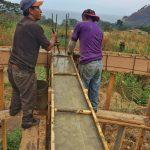 Cement work on Zendo Yoga Shala near Lake Atitlan - local workers from Tzununa