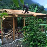 Roof in Casa Jardin at Doron Yoga & Zen Center is coming along