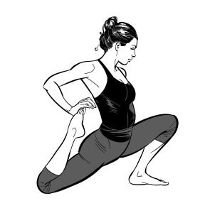 Binded Low Lunge Yoga Pose