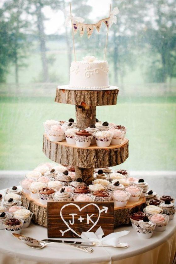 Tort weselny - inne pomysły, babeczki, tort z babeczek, ciasta na wesele, inspiracje ślubne3