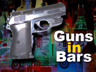 guns in bars