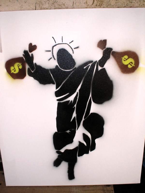 money_religion_50x70_stencil_on_canvas_helio