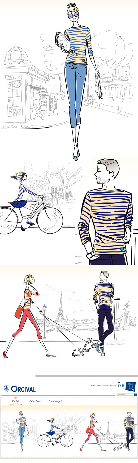 illustrations marinieres Orcival homepage