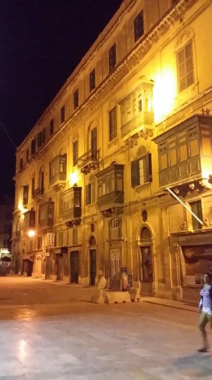 Street of Valletta at Night