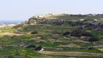 View uphills at Kuncizzjoni, Malta