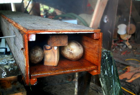 Potatoes steam box