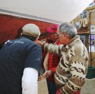 MMBC Trustees examine Dorothy with Tony G- photo by Emily Grove