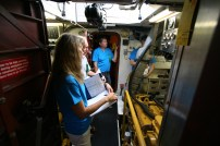 Judges get a look inside Pacific Grace engine room.
