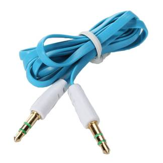 3.5mm (male) to 3.5mm (male) Audio Jack Plug Stereo Aux Lead Wire Cable Blue