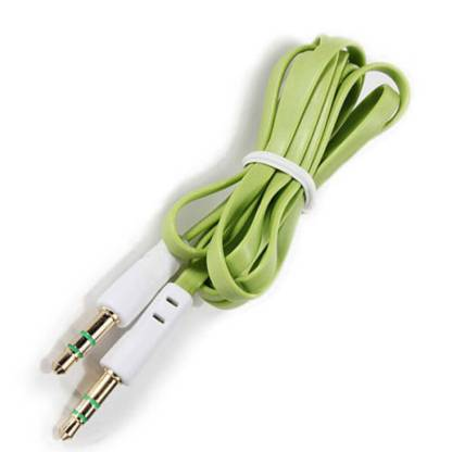 3.5mm (male) to 3.5mm (male) Audio Jack Plug Stereo Aux Lead Wire Cable Green