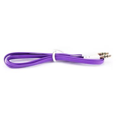 3.5mm (male) to 3.5mm (male) Audio Jack Plug Stereo Aux Lead Wire Cable Purple