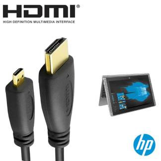 HP Pavilion X2 Laptop PC HDMI Micro to HDMI TV Monitor 5m Long Gold Cord Wire Lead Cable