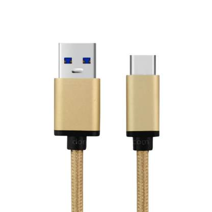 Huawei P10 Plus, P9 Mobile USB-C to USB-A 3.1 Laptop PC Charging Charge 'n Sync Data Haze Gold Wire Lead Cable